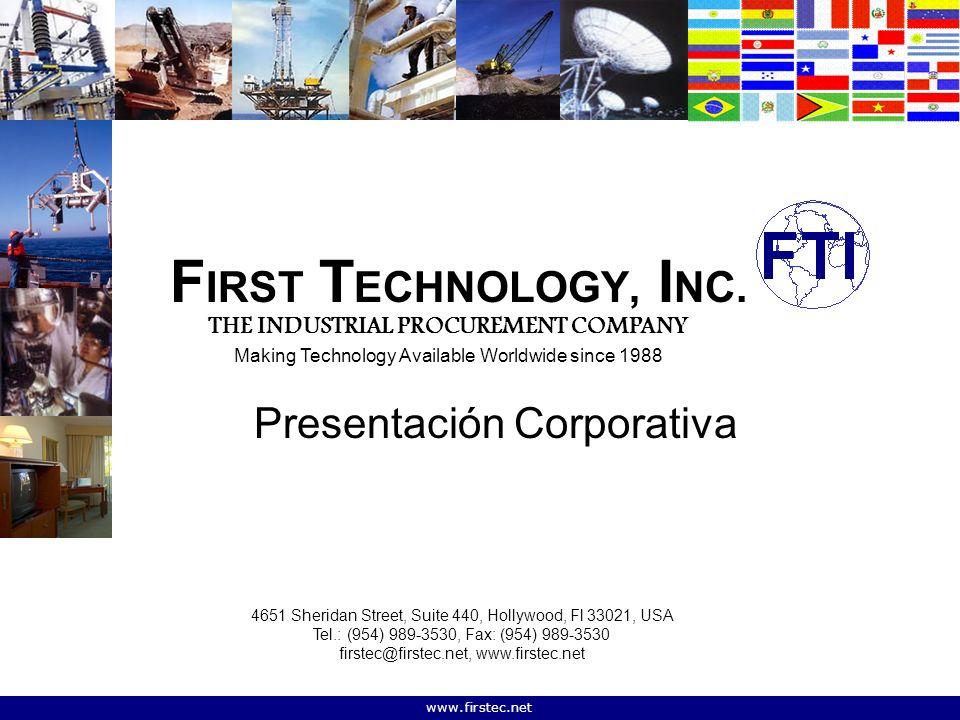 www.firstec.net F IRST T ECHNOLOGY, I NC.