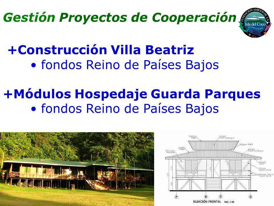 +Construcción Villa Beatriz fondos Reino de Países Bajos +Módulos Hospedaje Guarda Parques fondos Reino de Países Bajos