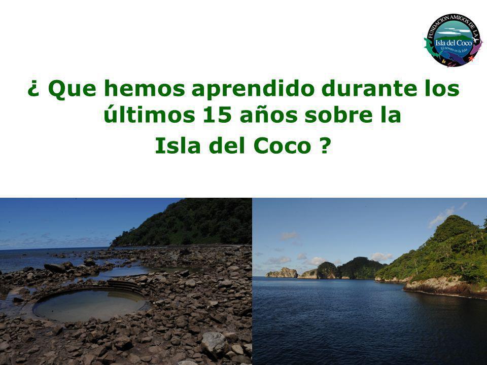 + Isla oceánica a 532 Km de la Cabo Blanco, Costa Rica + 24 Km2 de ecosistemas terrestres pristinos y deshabitados + 1997 Km2 de ecosistemas marinos protegidos + Única cúspide volcánica emergente de la Cordillera Submarina Cocos Isla del Coco