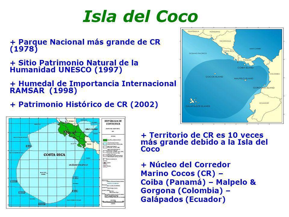Principales amenazas - pesca ilegal y desaleteo de tiburones - especies introducidas - insuficientes recursos - pérdida de control del turismo Isla del Coco