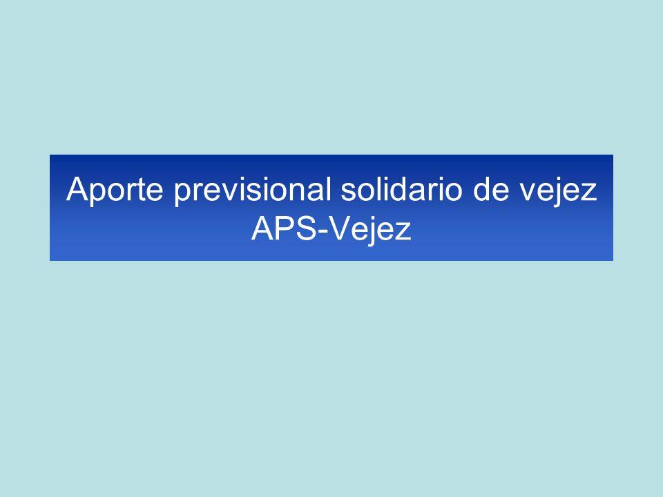 Aporte previsional solidario de vejez APS-Vejez