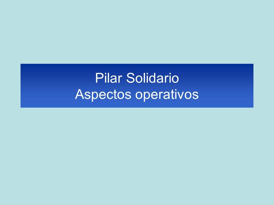 Pilar Solidario Aspectos operativos