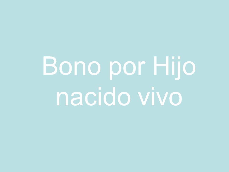 Bono por Hijo nacido vivo