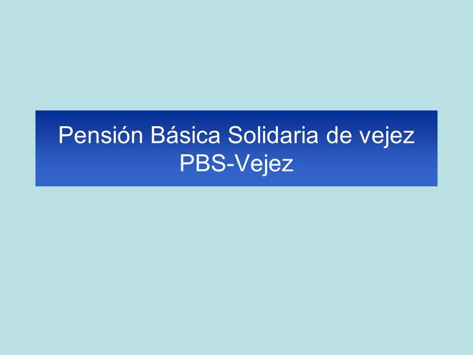 Pensión Básica Solidaria de vejez PBS-Vejez