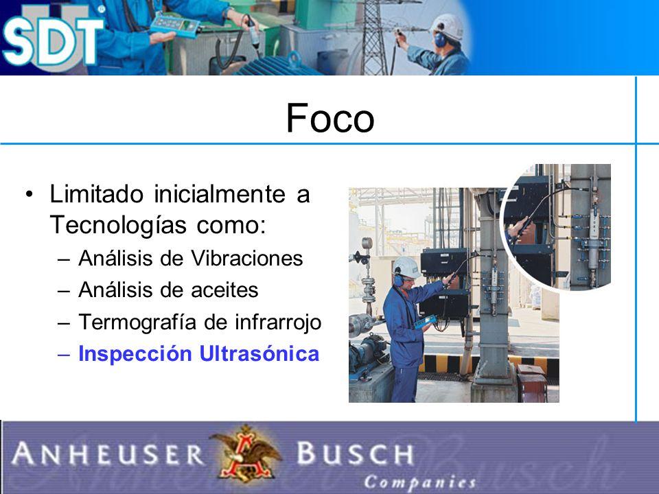 Foco Limitado inicialmente a Tecnologías como: –Análisis de Vibraciones –Análisis de aceites –Termografía de infrarrojo –Inspección Ultrasónica