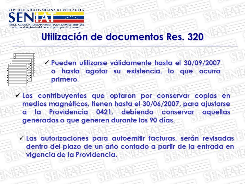 Utilización de documentos Res.