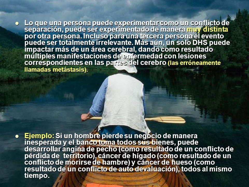 Lo que una persona puede experimentar como un conflicto de separación, puede ser experimentado de manera muy distinta por otra persona.