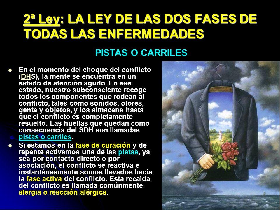 2ª Ley: LA LEY DE LAS DOS FASES DE TODAS LAS ENFERMEDADES En el momento del choque del conflicto (DHS), la mente se encuentra en un estado de atención