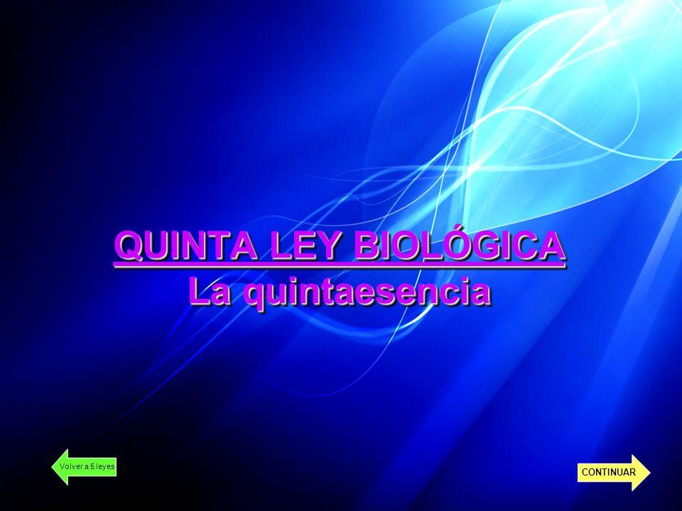 QUINTA LEY BIOLÓGICA La quintaesencia Volver a 5 leyes CONTINUAR