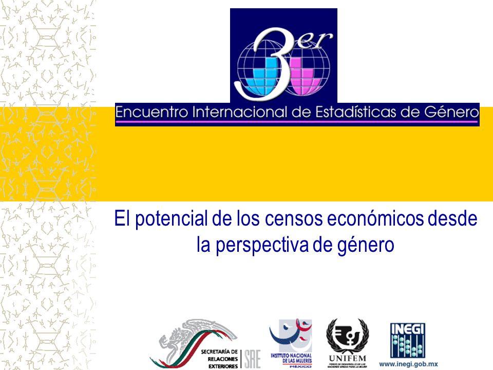 INTRODUCCIÓN Este trabajo explota la información de los Censos Económicos 1994 y 1999 en lo relativo a la ocupación masculina y femenina, así como de algunas variables asociadas.