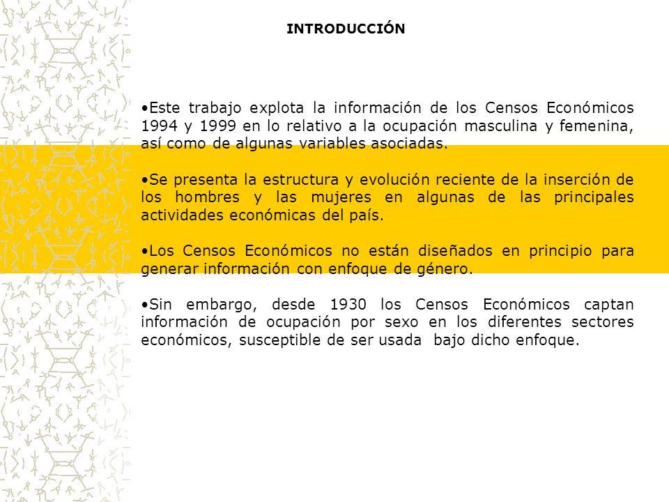 PERSONAL SUBCONTRATADO, SEGÚN GÉNERO, 1998 La participación de las mujeres en el personal ocupado subcontratado presenta sus niveles máximos en Jalisco, Durango y San Luis Potosí.