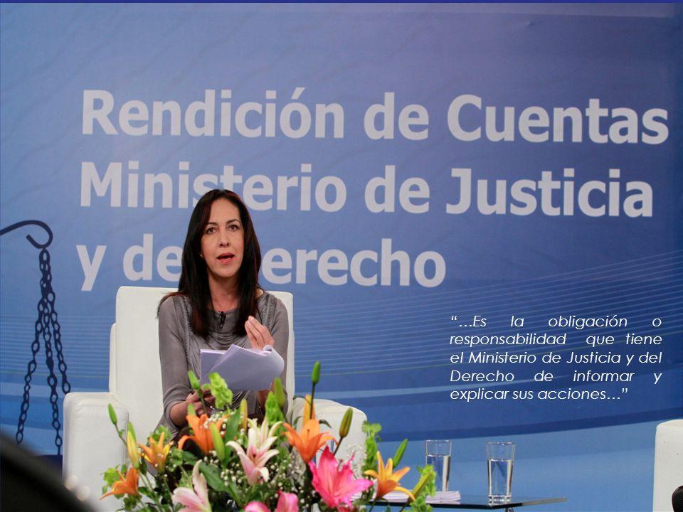 …Es la obligación o responsabilidad que tiene el Ministerio de Justicia y del Derecho de informar y explicar sus acciones…
