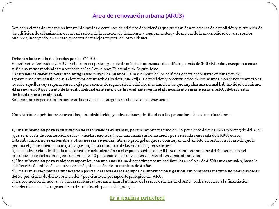 Áreas de Rehabilitación Integral de conjuntos históricos, centros urbanos, barrios degradados y municipios rurales. (ARIS) Áreas de rehabilitación int
