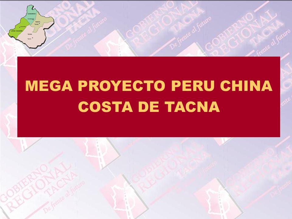 MEGA PROYECTO PERU CHINA COSTA DE TACNA