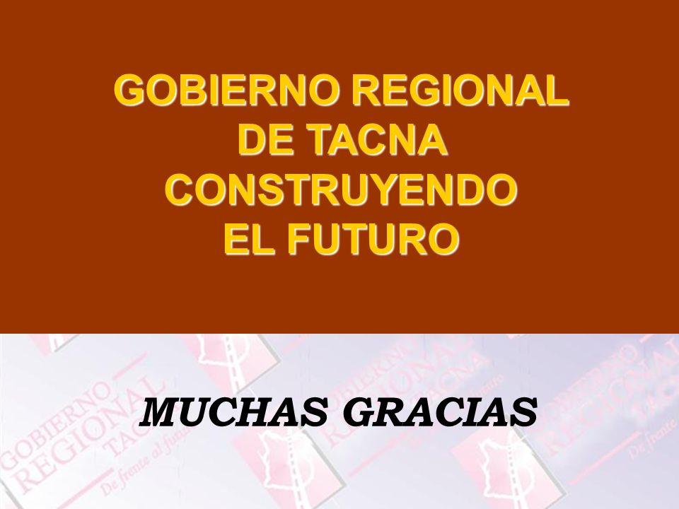 MUCHAS GRACIAS GOBIERNO REGIONAL DE TACNA CONSTRUYENDO EL FUTURO