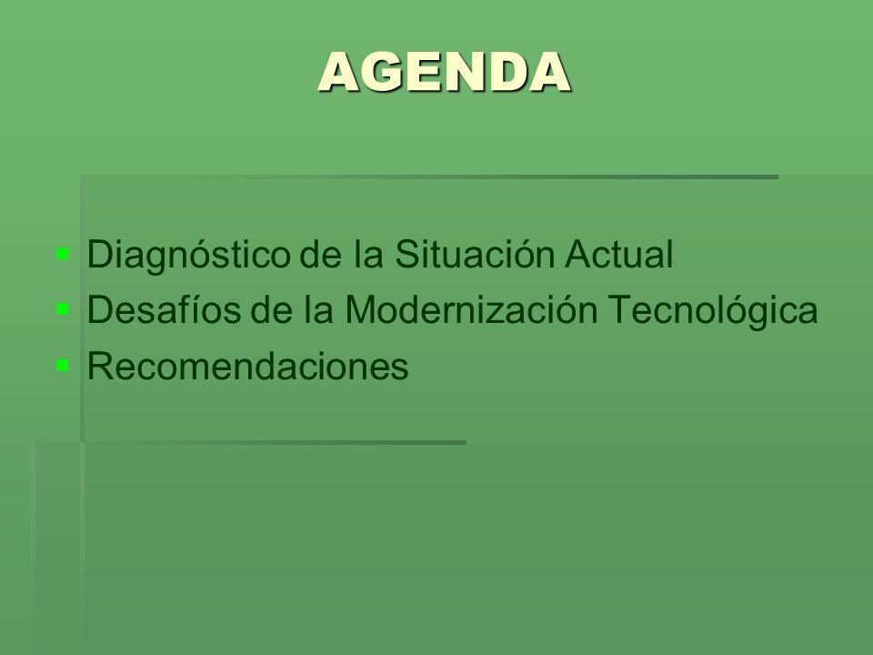 Diagnóstico de la Situación Actual Desafíos de la Modernización Tecnológica Recomendaciones AGENDA