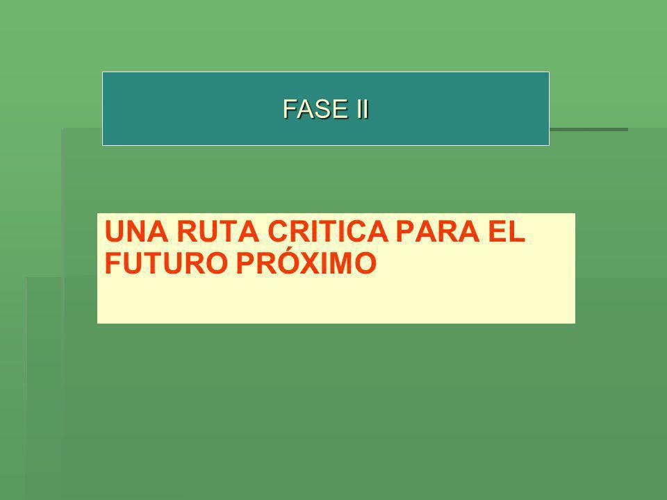 FASE II UNA RUTA CRITICA PARA EL FUTURO PRÓXIMO
