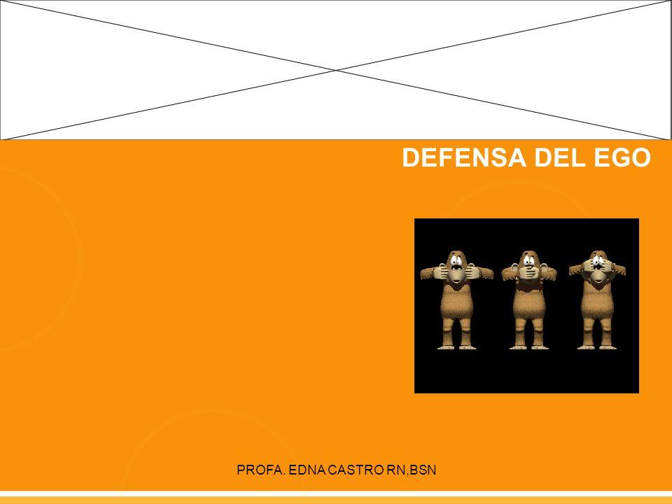 PROFA. EDNA CASTRO RN,BSN MECANISMOS DE DEFENSA DEL EGO