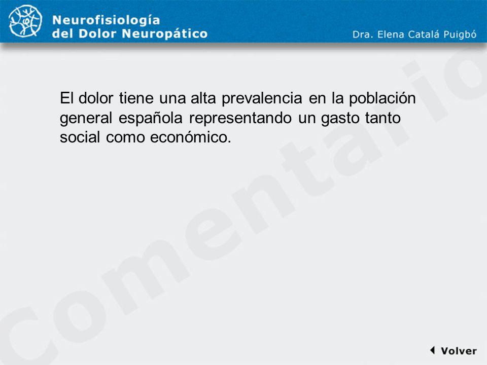 Comentario a diapo4 El dolor tiene una alta prevalencia en la población general española representando un gasto tanto social como económico.
