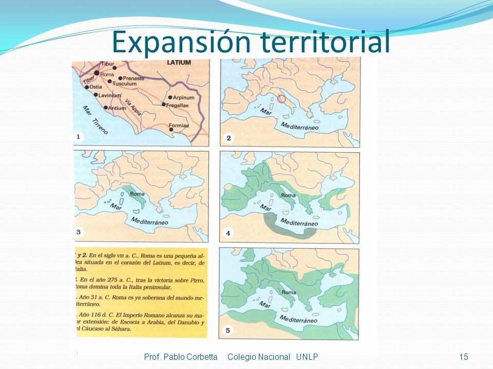 Expansión territorial 15Prof. Pablo Corbetta Colegio Nacional UNLP