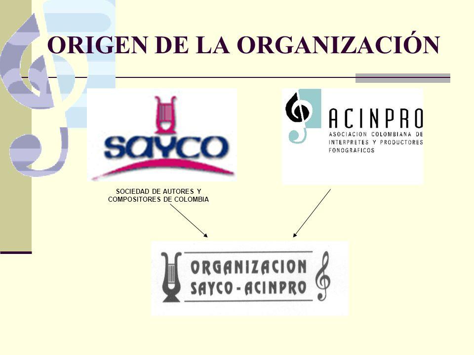 Sociedad de Autores y Compositores de Colombia: Sociedad de Gestión Colectiva de Derechos de Autor que recauda y distribuye los derechos patrimoniales provenientes de la comunicación pública de las obras musicales de sus afiliados nacionales y extranjeros.