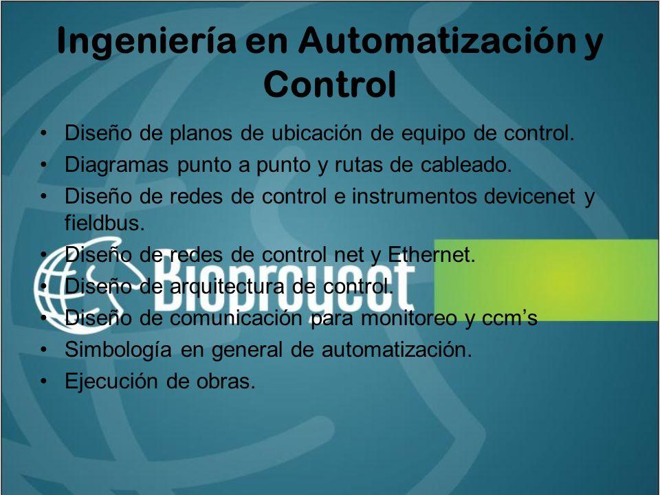 Ingeniería en Automatización y Control Diseño de planos de ubicación de equipo de control.