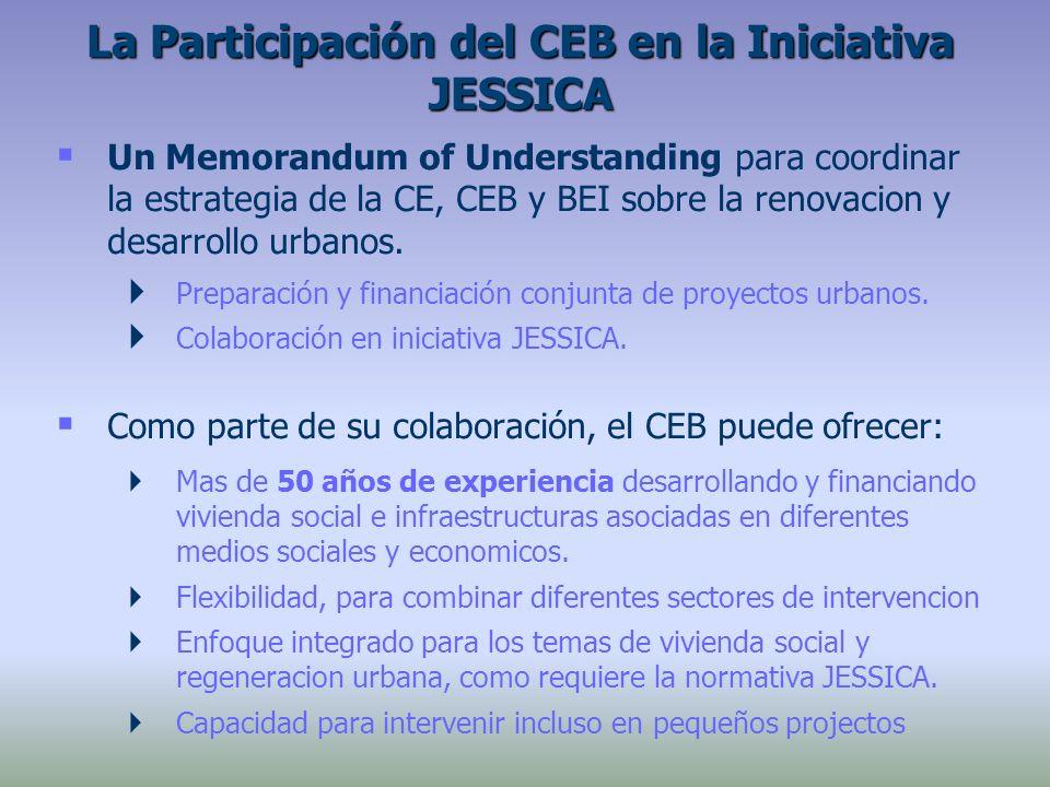 Un Memorandum of Understanding para coordinar la estrategia de la CE, CEB y BEI sobre la renovacion y desarrollo urbanos. Preparación y financiación c