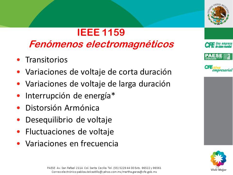 18 PAESE Av. San Rafael 211A Col. Santa Cecilia Tel. (55) 5229 44 00 Exts. 96522 y 96561 Correo electrónico pabloa.delcastillo@yahoo.com.mx/martha.gar