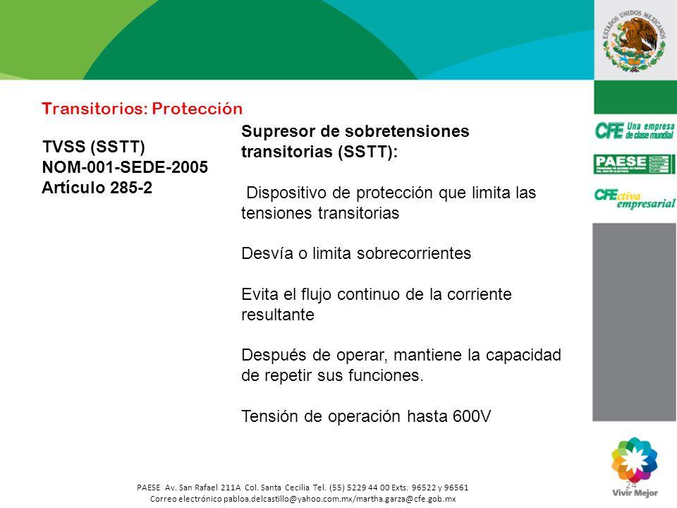 24 PAESE Av. San Rafael 211A Col. Santa Cecilia Tel. (55) 5229 44 00 Exts. 96522 y 96561 Correo electrónico pabloa.delcastillo@yahoo.com.mx/martha.gar