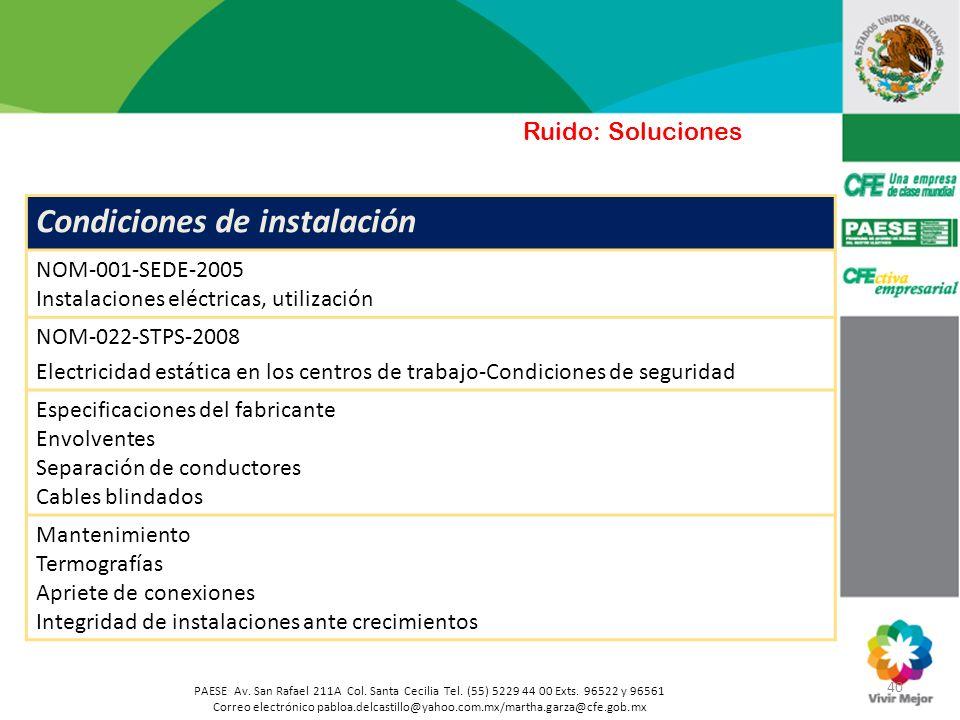 40 PAESE Av. San Rafael 211A Col. Santa Cecilia Tel. (55) 5229 44 00 Exts. 96522 y 96561 Correo electrónico pabloa.delcastillo@yahoo.com.mx/martha.gar