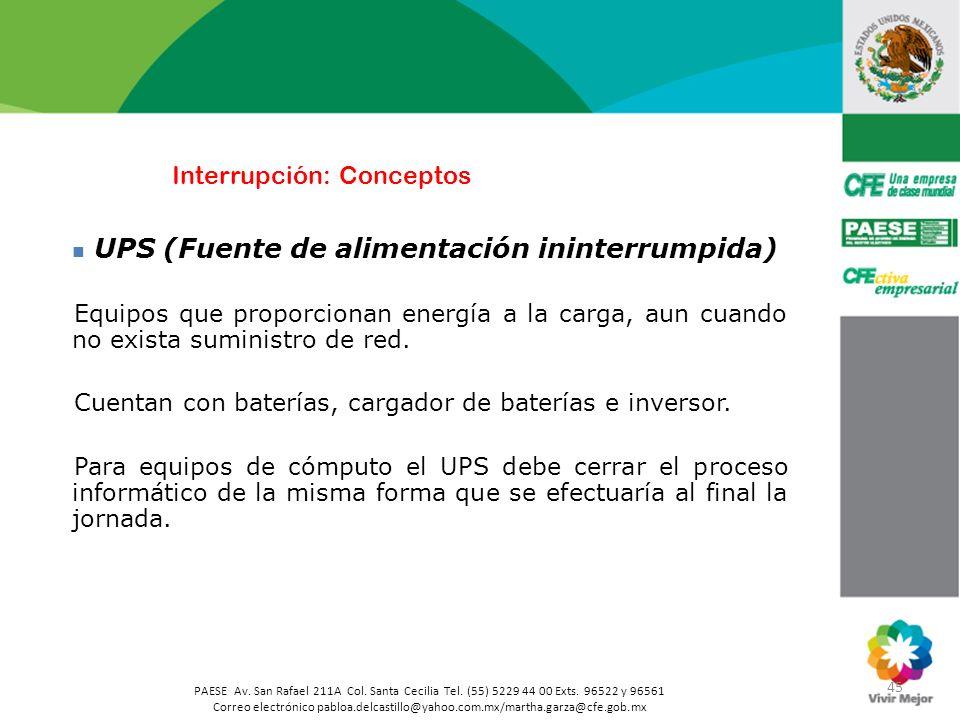 45 PAESE Av. San Rafael 211A Col. Santa Cecilia Tel. (55) 5229 44 00 Exts. 96522 y 96561 Correo electrónico pabloa.delcastillo@yahoo.com.mx/martha.gar