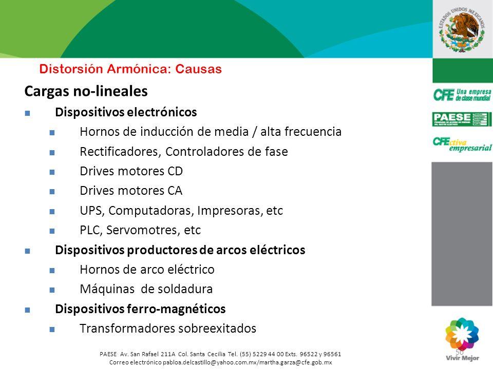50 PAESE Av. San Rafael 211A Col. Santa Cecilia Tel. (55) 5229 44 00 Exts. 96522 y 96561 Correo electrónico pabloa.delcastillo@yahoo.com.mx/martha.gar
