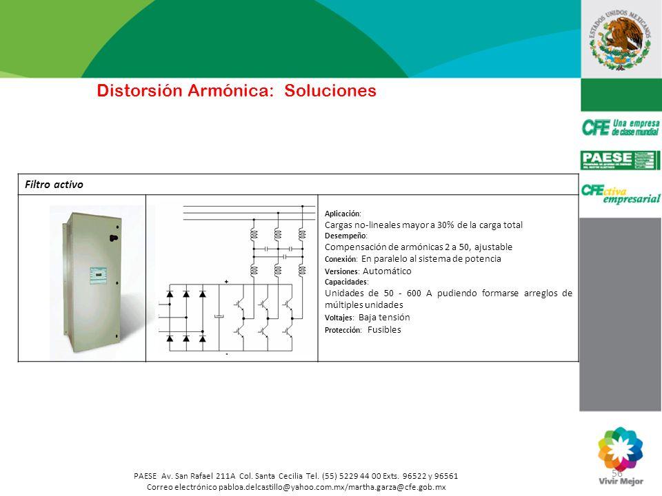 56 PAESE Av. San Rafael 211A Col. Santa Cecilia Tel. (55) 5229 44 00 Exts. 96522 y 96561 Correo electrónico pabloa.delcastillo@yahoo.com.mx/martha.gar