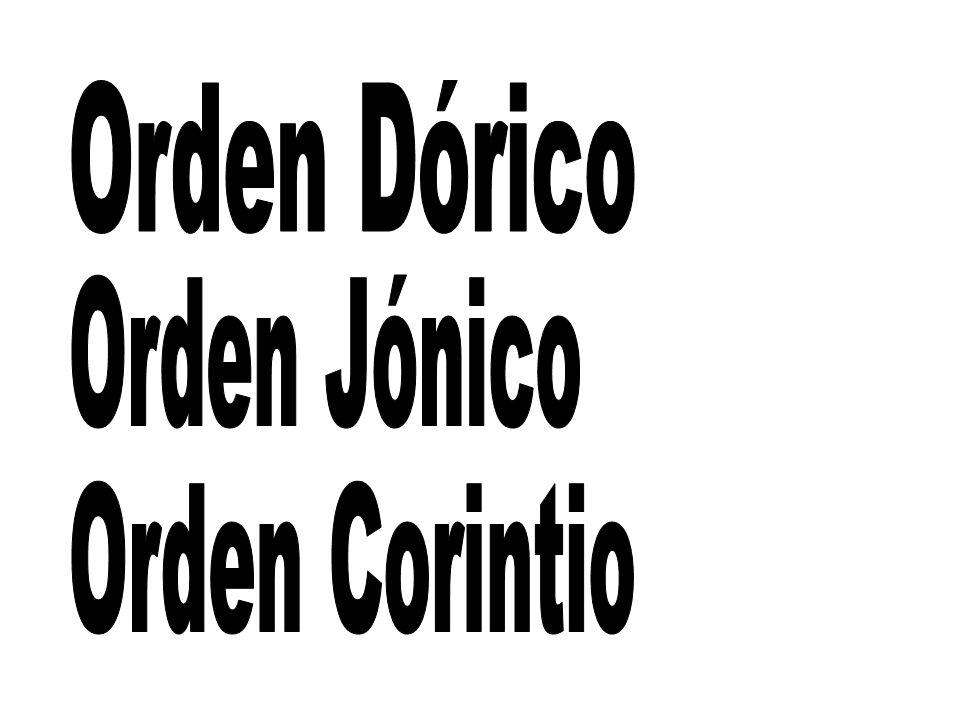 El orden dórico es el más primitivo y simple de los órdenes arquitectónicos clásicos, presentando unas proporciones que trasmiten sensación de robustez.