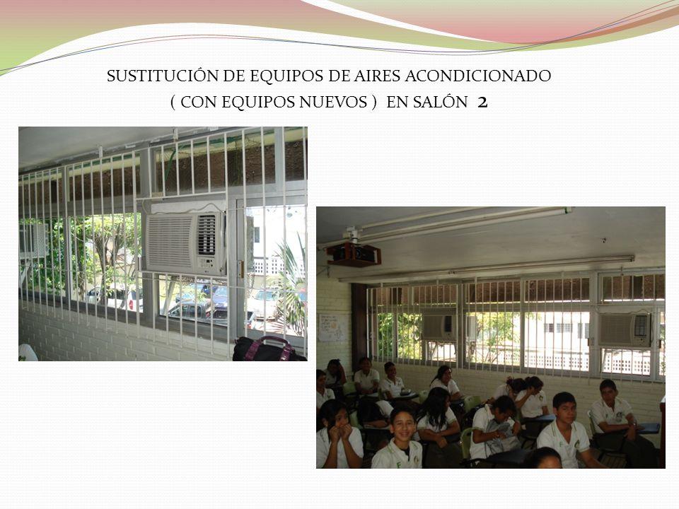 SUSTITUCIÓN DE EQUIPOS DE AIRES ACONDICIONADO ( CON EQUIPOS NUEVOS ) EN SALÓN 2
