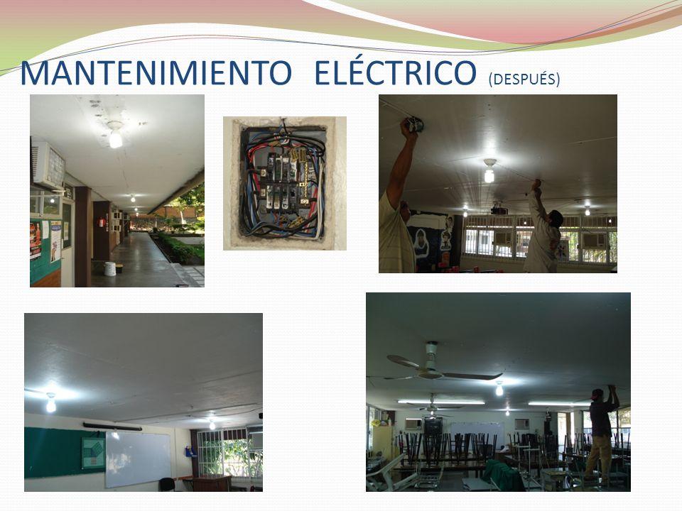 MANTENIMIENTO ELÉCTRICO (DESPUÉS)