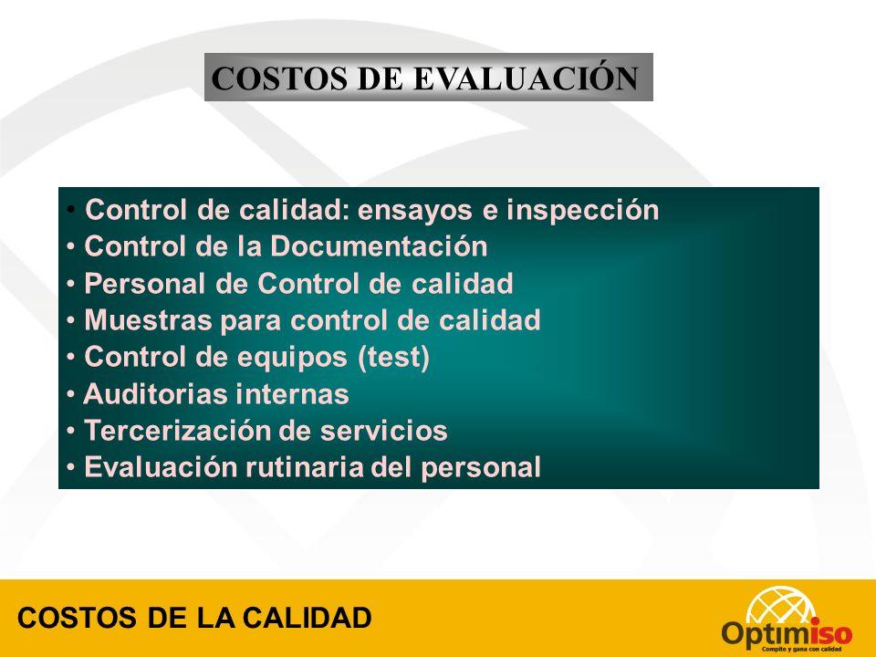 Planificación de la Calidad Descripción de tareas Capacitación del personal Mantenimiento de equipos Documentación Mejora de procesos Análisis de merc