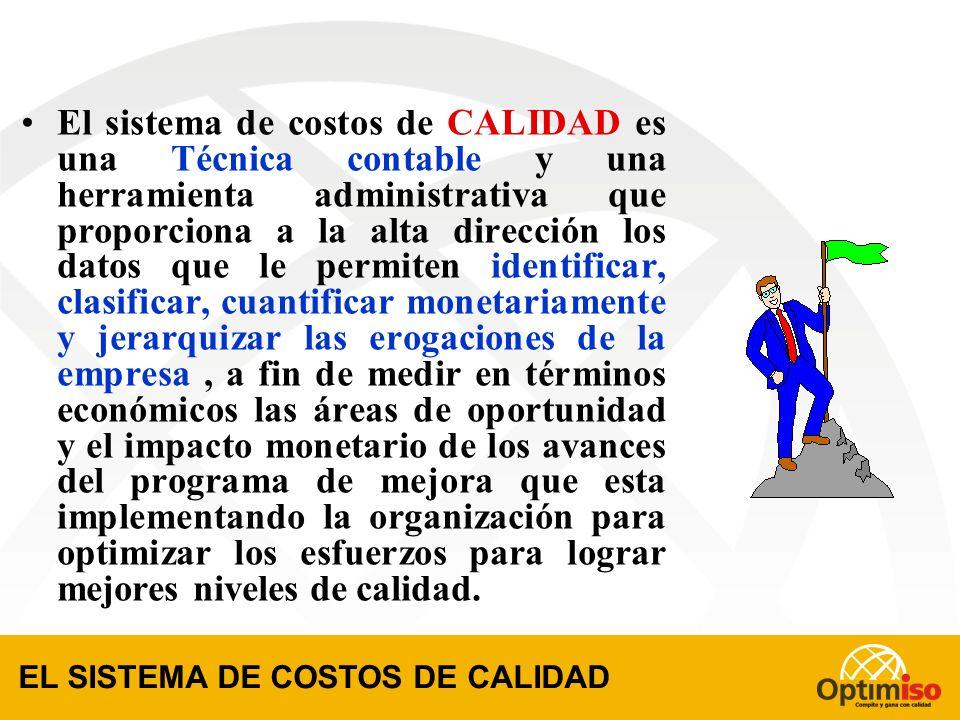 Cada Sistema de Costos de CALIDAD es un traje a la medida de la empresa que lo implementa. CARACTERISITICAS DE UN SISTEMA DE CALIDAD