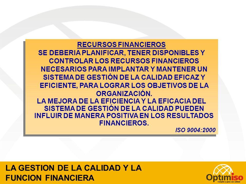 LOS RESULTADOS FINANCIEROS DE UNA EMPRESA SON EL PRODUCTO DE SU SISTEMA DE LA CALIDAD GESTION FINANCIERA DE LA CALIDAD