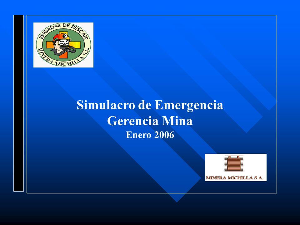 Simulacro de Emergencia Gerencia Mina Enero 2006