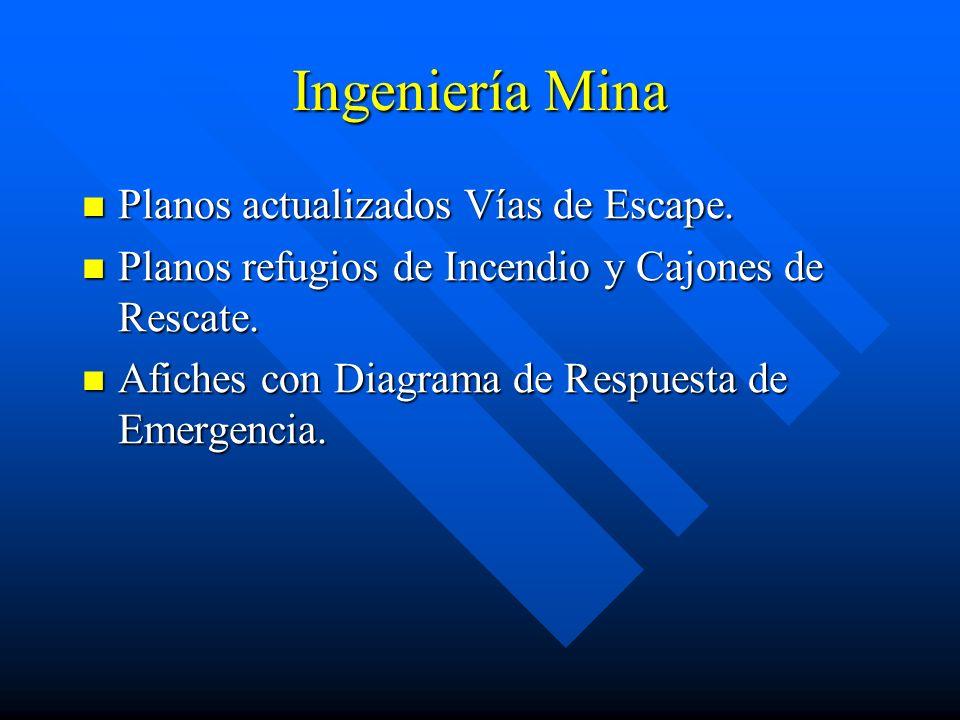 Ingeniería Mina Planos actualizados Vías de Escape.