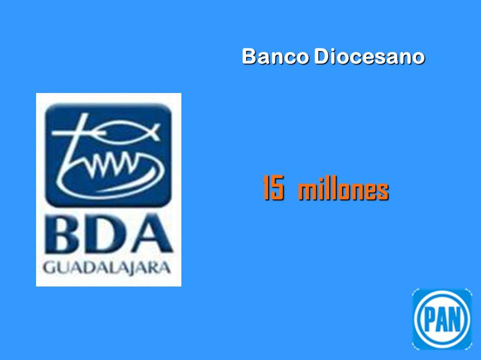 Banco Diocesano 15 millones