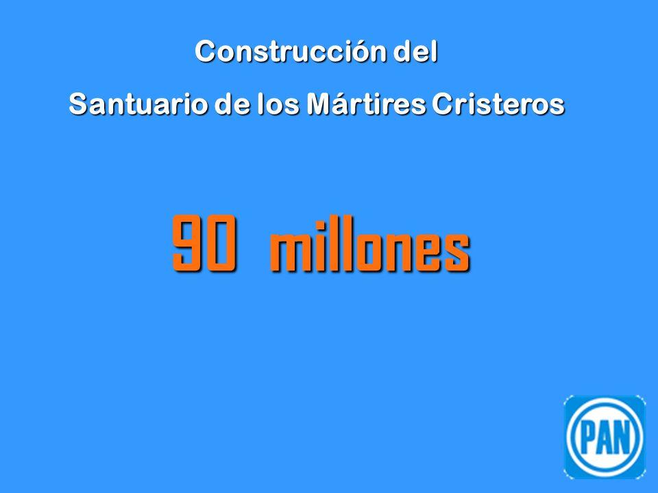 Construcción del Santuario de los Mártires Cristeros 90 millones