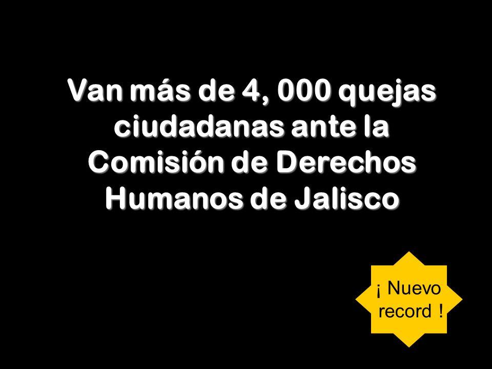 Van más de 4, 000 quejas ciudadanas ante la Comisión de Derechos Humanos de Jalisco ¡ Nuevo record !