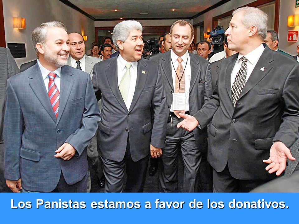 Los Panistas estamos a favor de los donativos. Eduardo Rosales Presidente PAN Jalisco Jorge Salinas. Dip. Local y precandidato a Presidente Municipal