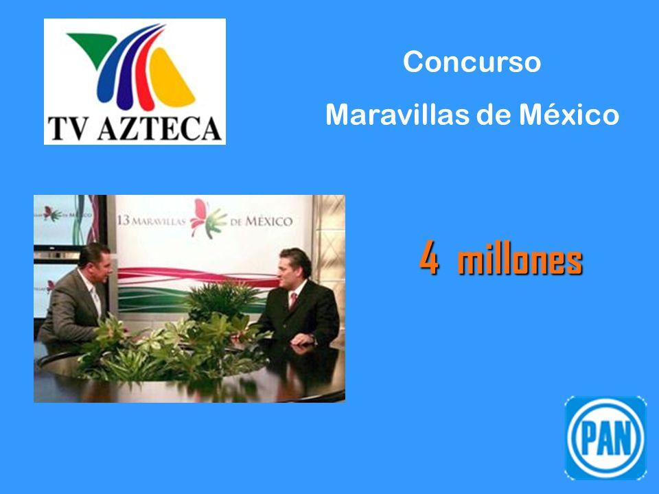 Concurso Maravillas de México 4 millones