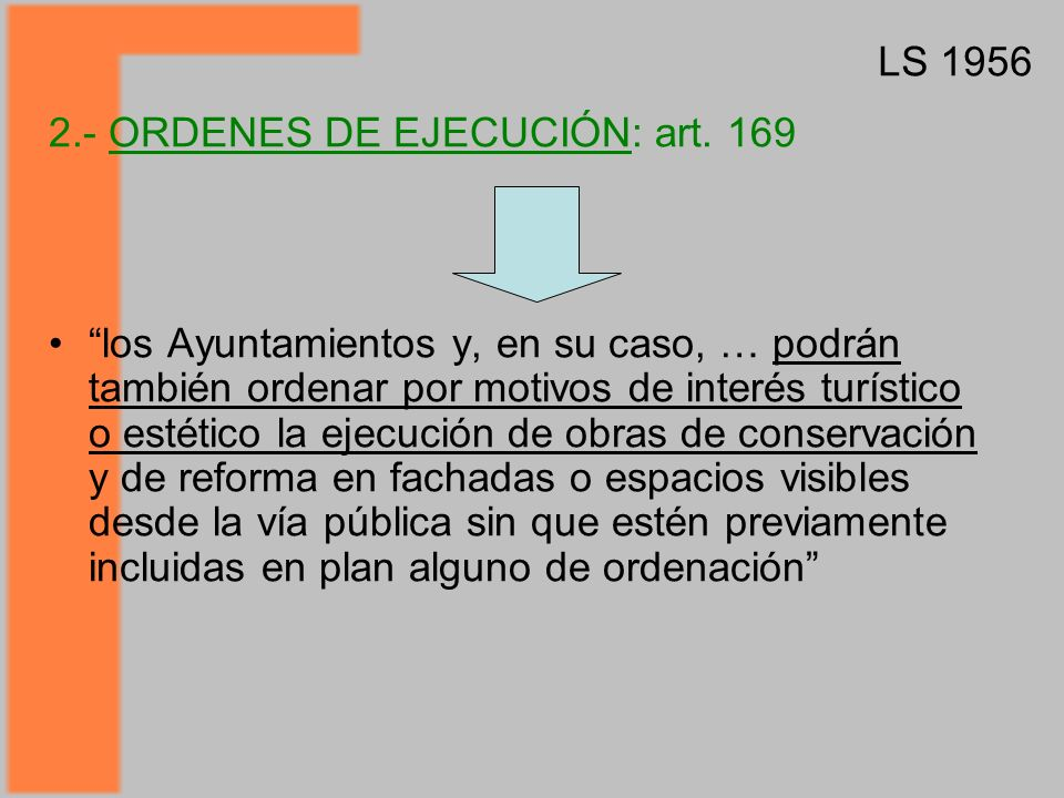 2.- ORDENES DE EJECUCIÓN: art.
