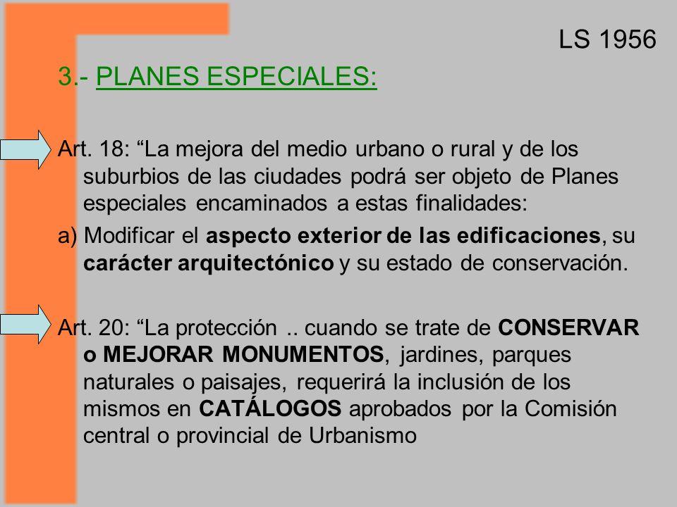 3.- PLANES ESPECIALES: Art.