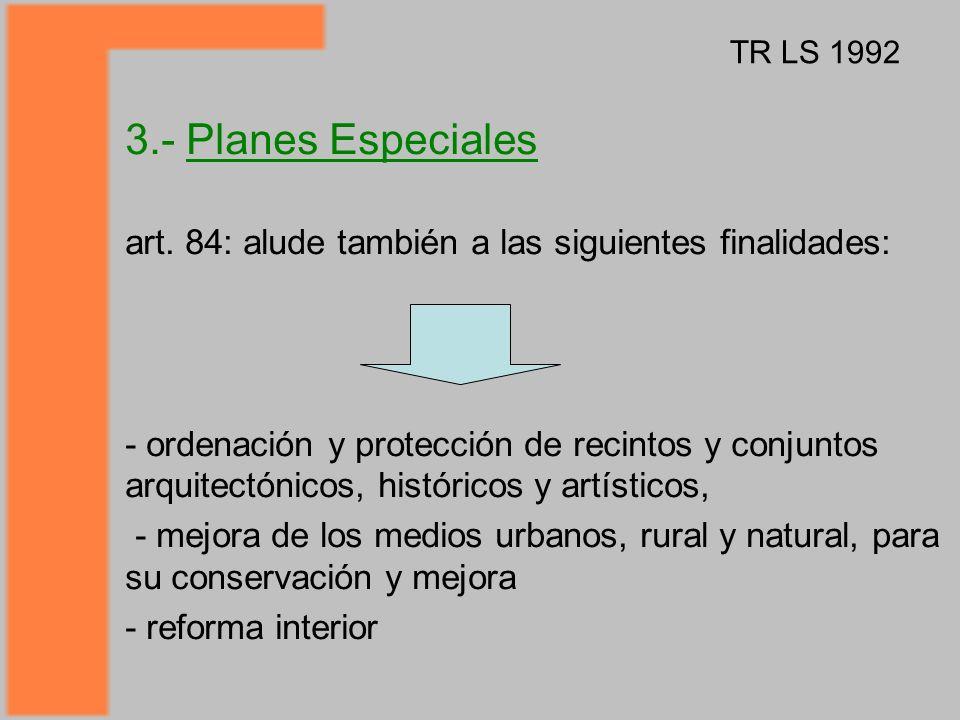 3.- Planes Especiales art.