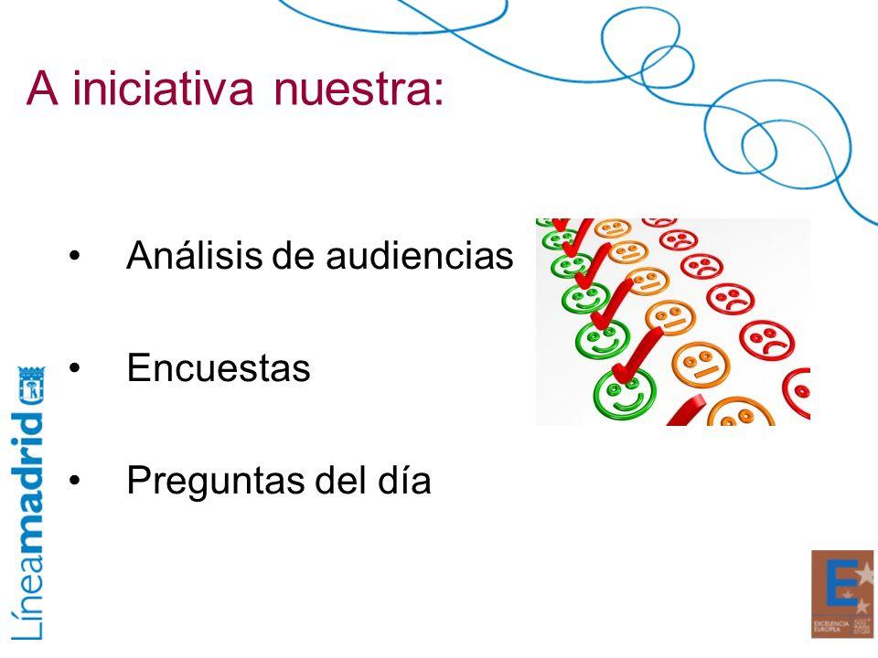 A iniciativa nuestra: Análisis de audiencias Encuestas Preguntas del día